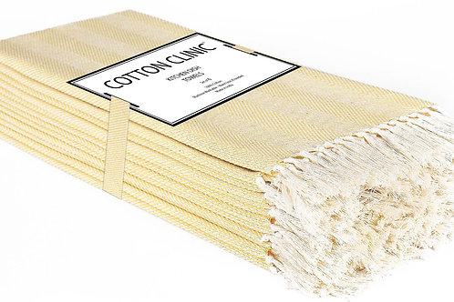 Cotton Clinic Herringbone 16x26 Kitchen Dish Tea Towels - 6 Pack