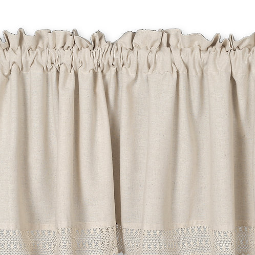 Cotton Clinic 72x16 Window Valance Curtains - 2 Panels