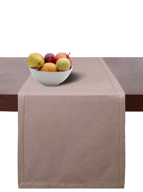 Cotton Clinic Chambray Hemstitch Table Runner