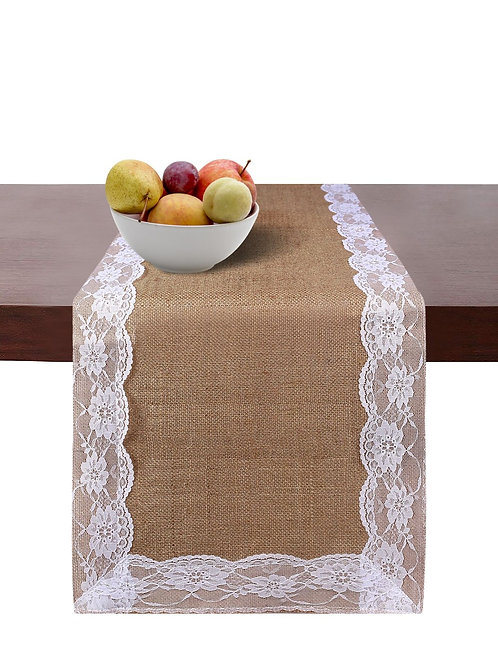 Cotton Clinic Jute Burlap Table Runners - 2 Pack