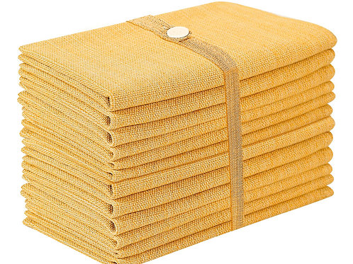 Cotton Clinic Grasscloth 20x20 Cloth Dinner Napkins - 12 Pack