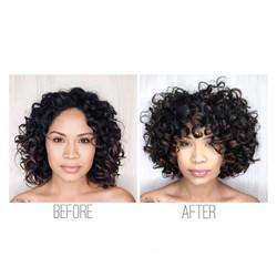 Curl specialist haircut