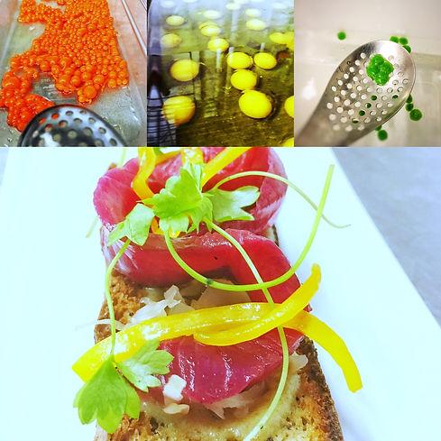 cured salmon bruschetta