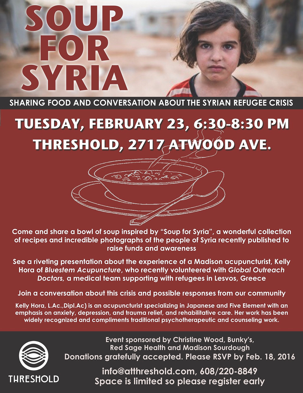 Soup for Syria Event Announcement