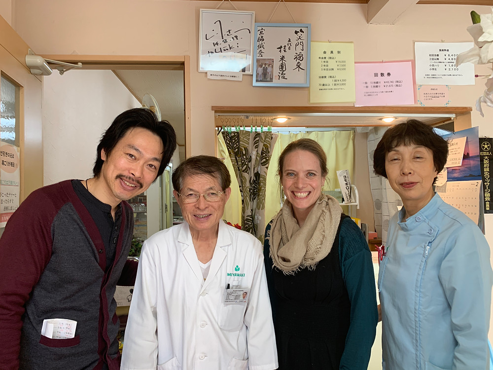 Miyawaki-sensei and staff in Osaka, Japan