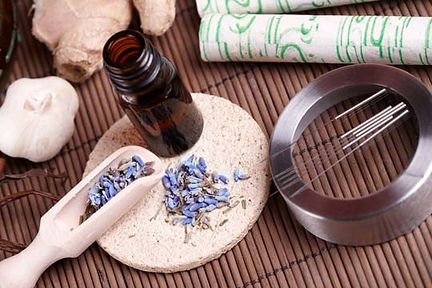 Acupuncture needles moxa and herbal medicine.jpg