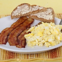 Cheese & 2 Bacon On Toast