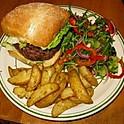 Half Pounder, Chips & Salad