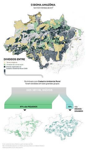 Reserva legal, uma ilusão amazônica: Graças a brechas no Código Florestal, a maioria dos fazendeiros na região não é obrigada a preservar 80% de suas terras