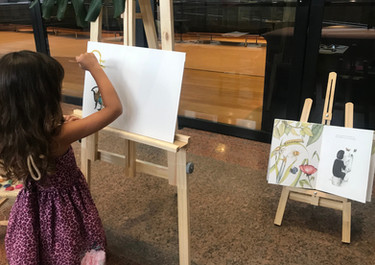 Pintura em cavaletes