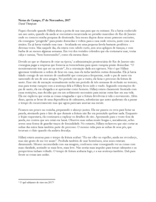 """""""Notas de Campo, 17 de Novembro, 2017"""", 2020"""