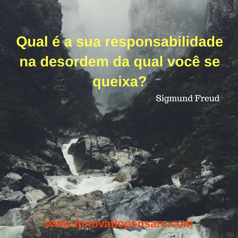 Frase de Sigmund Freud-Criação Innovatio Pensare