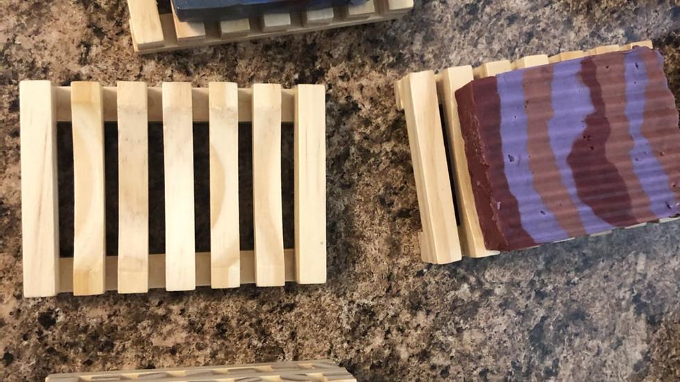 Light Wood Bamboo Soap Dish