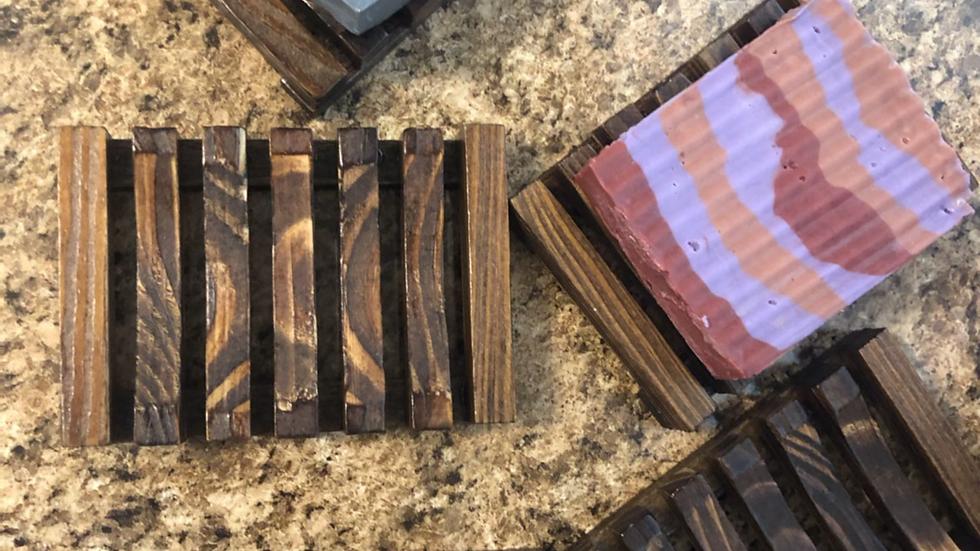 Dark Wood Bamboo soap Dish
