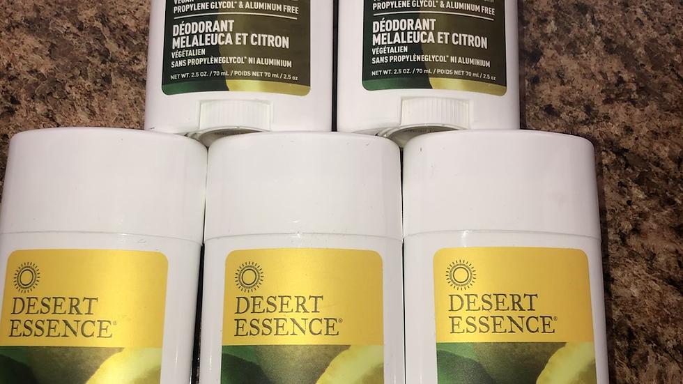 Organic Vegan Lemon Tea Tree Deodorant