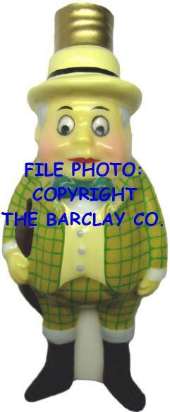 "#BC-061 - Palmer Cox Brownies ""Milk Glass"" Bulb Cover - Brownie Englishman"