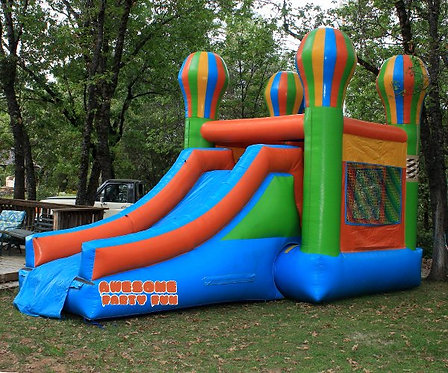 WET MODULAR COMBO 17' Bounce House w/Water Slide To Ext