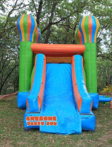WET MODULAR COMBO 17' Bounce House & Ext Slide!