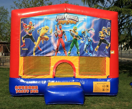 POWER RANGERS Themed 13' Bounce House