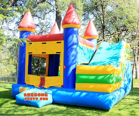 CASTLE COMBO 17' Bounce House w/7' Slide