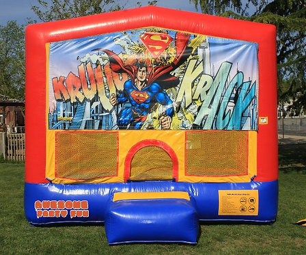 SUPERMAN Superhero Themed 13' Bounce House