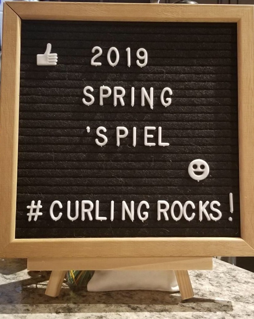 Legal Curling Club - Spring Spiel Sign
