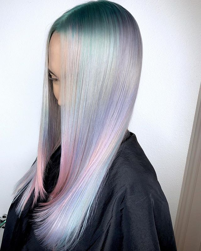 💿YOLO HOLO💿 By Michael & Melody Using All _pravana Vivids Blue, Green, Silver, Yellow, Magenta, My