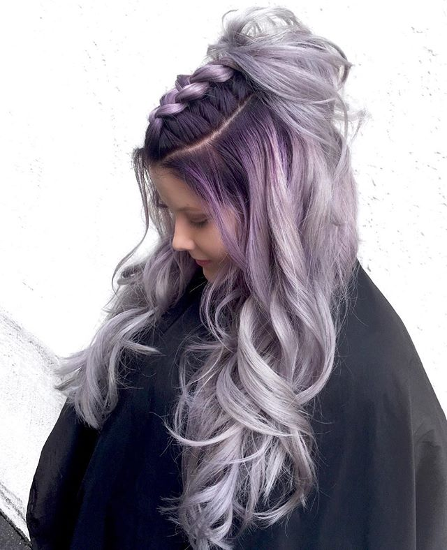 Fluffy Top Knot On High Contrast Lavender 💜🐼💜 By Owners Michael & Melody _melody_rossmichaels  Us