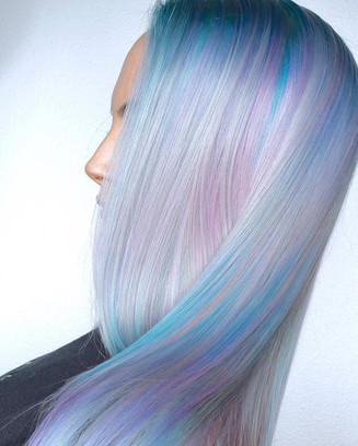 🧚🏻♂️GLOW🧚🏻♂️ Illuminated Hair By Melody & Michael Using _pravana Vivids And Treated With _olaplex _behindthechair_com #behindthechair #btc