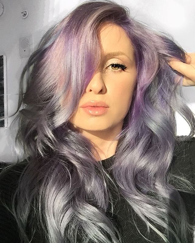 Mama Finally Got Her Hair Done! Silver Lilac Melt 💜_melody_rossmichaels _Using All _pulpriothair My