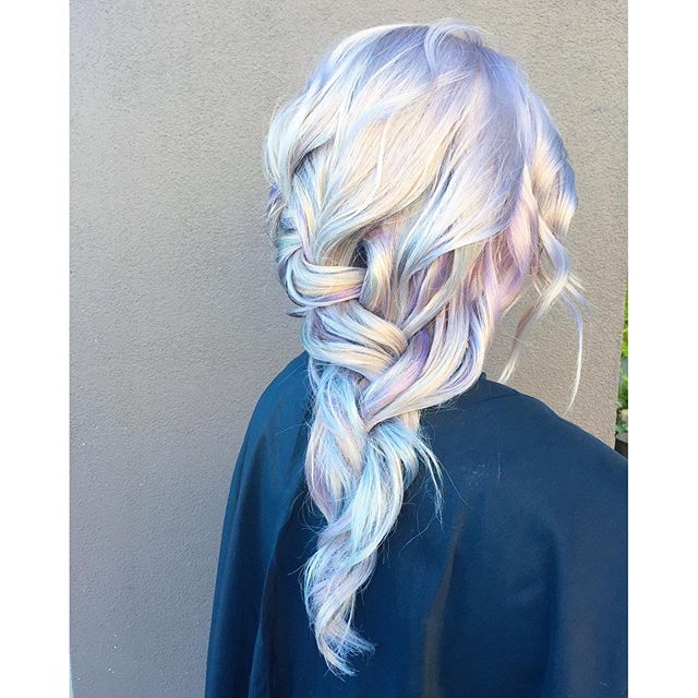 💿💿 Holographic 💿💿 Dimensional Silver Violet Romantic Braid by the team at Ross Michaels using _p