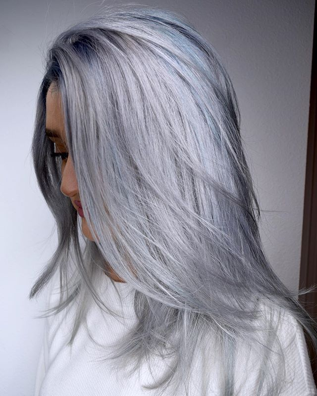Super Silver 🌪🌪🌪 Metallics Or Pastels, Which Do You Prefer_ By Melody & Michael Using _pravana #p