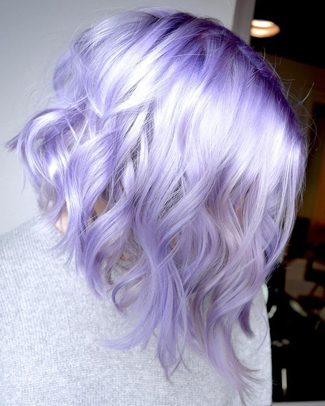 French Lavender Lob 💜 When Your Cut & Color Is Inspired By Everything Parisian