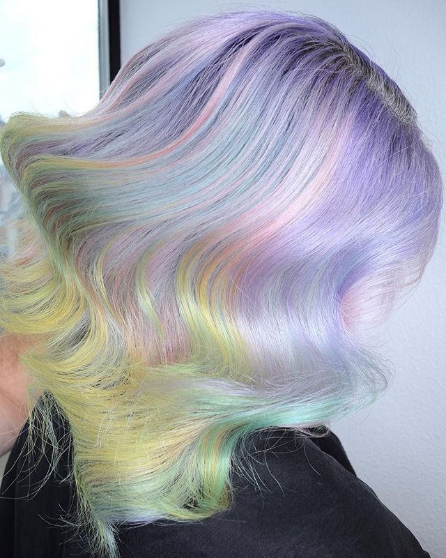 Pastel Opal ⚪️ How Many Colors Can You Spot In This Creation_ By Melody & Michael Using _pravana Viv