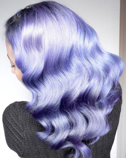 Periwinkle Shine ❄️💙❄️ By Michael & Melody Using All _pravana Luscious Lavender, Moody Blue & Viole