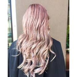 Muted Pink and Lavender over Blonde Highlights💗💜