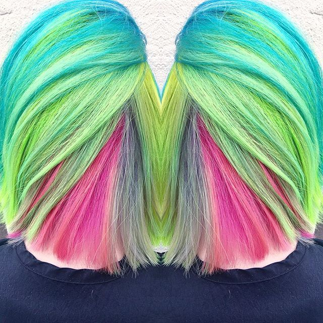 Because life is too short for boring hair. GO NEON