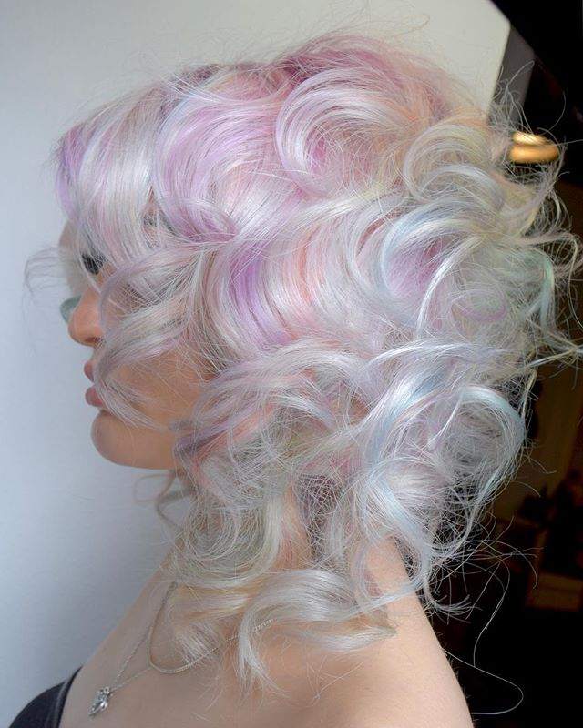 Candied Platinum 🍭⚪️ Because Who Doesn't Like A Sprinkle Of Fun. By Michael & Melody Using _pravana