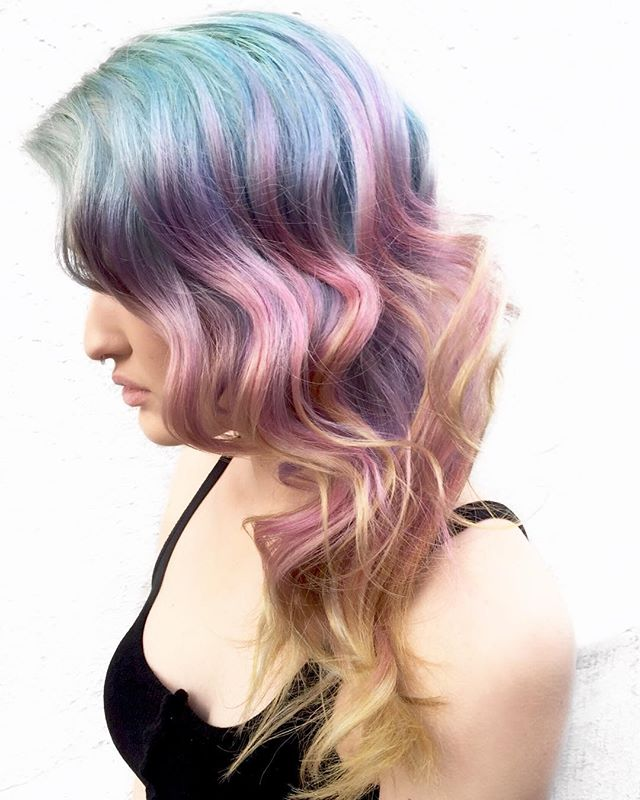 🦄Pastel Rainbow Melt🦄 By Owners Michael & Melody _melody_rossmichaels #behindthechair #btconeshot_