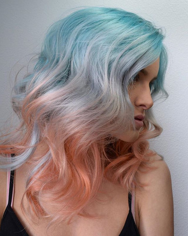 Tropic Beauty🐬🍑🐬 When Ocean Kisses The Sky. By Melody, Michael & Collab With _hairypothair Using _pravana Vivids ._._._._._._.jpg