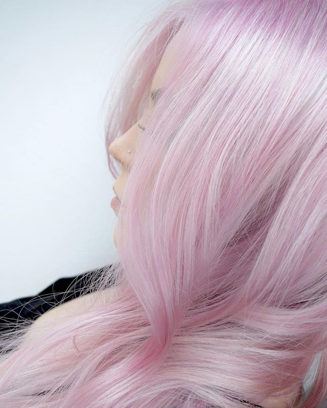 Platinum Pink 🍧 Soft Is Hot! Would You Dare To Rock This Look_ By Michael & Melody. Using _pravana