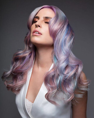 ⚪️Holo Opal ⚪️ Using _pravana 's New #VIVIDSCRYSTALS 💎 Melody & Michael Model _itsthecwolf For _hellogiggles  _behindthechair_com  #behindth