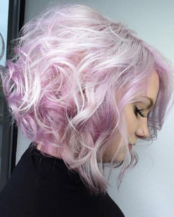 Pink Platinum Lob 🍥 Soft Is Hot! What Is Your Favorite Shade Of Pastel_🦄 By Melody & Michael Using