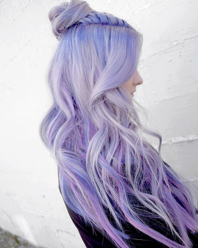 Holographic Lavender Mist 💿💜💿 By Michael & Melody _melody_rossmichaels  Using All _pulpriothair T
