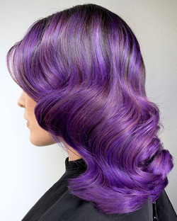 Vintage Hollywood Violet 💜💜💜 What do you all think_ Do you love mixing classic styles with new fa