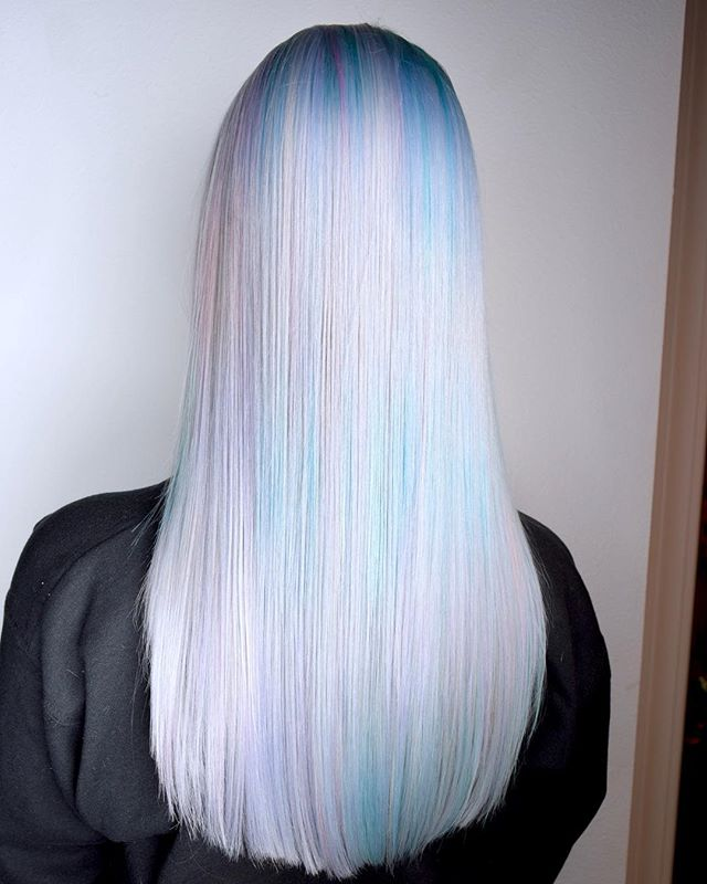 Opal Magic ✨ By Michael & Melody Using _pravana Vivids Treated With _olaplex  _behindthechair_com  #