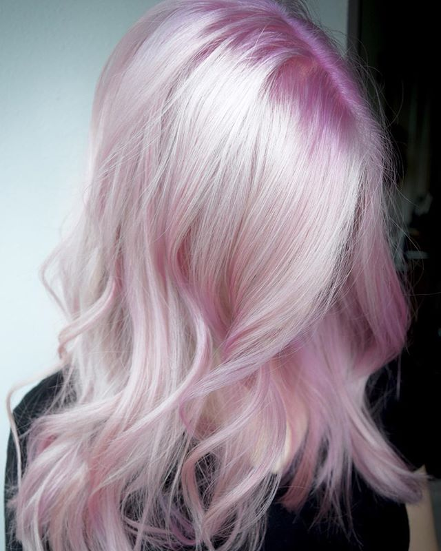 Rooted Platinum Pink 🍧 Soft Is Hot! Would You Dare To Rock This Look_ By Michael & Melody