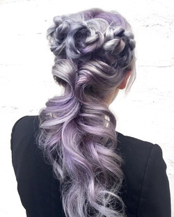 ☠️Guns & Roses☠️ Flower Braids On Steel Metallic Hair