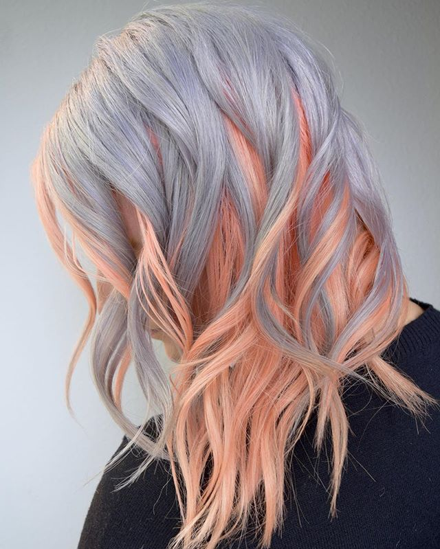 Peachy Pop! 🍑 With a Silver Overlay💨 One Of Our All Time Favorite Color Combos