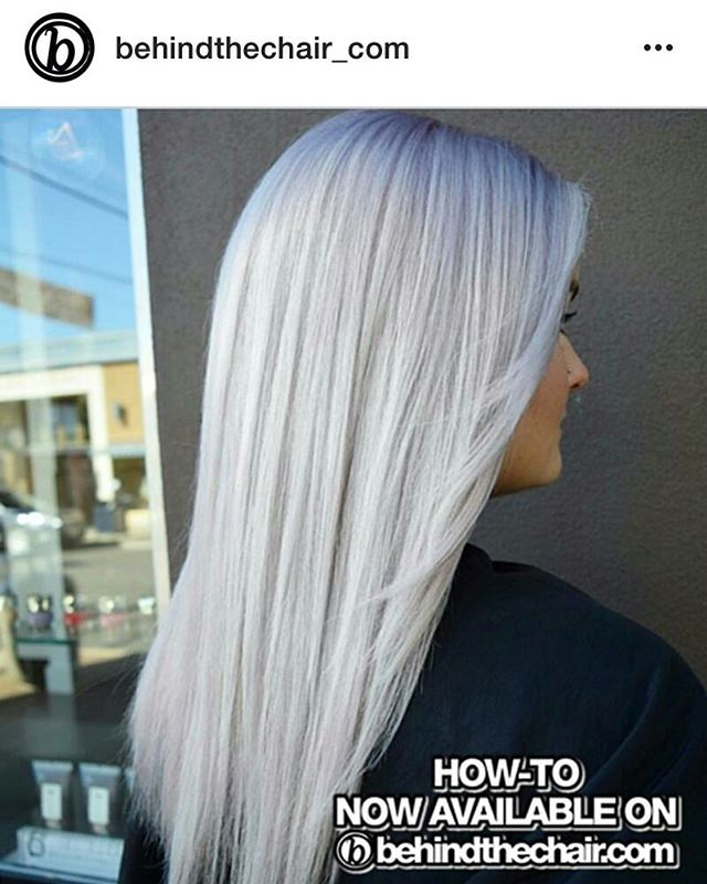 Big Thank You to _behindthechair_com for their article on our Frozen Blonde. ❄️❄️❄️ Go check it out!